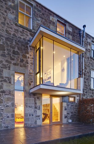 Different approach: A glass window extension in Wormit House, Fife, Scotland