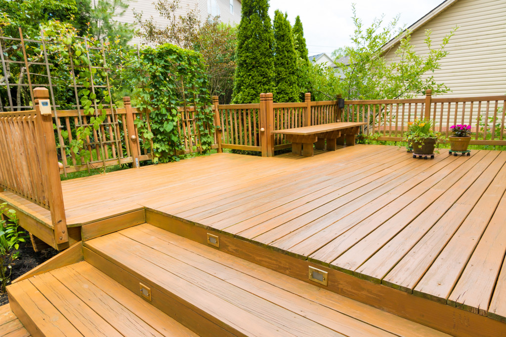 deck on a slope